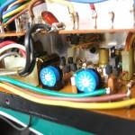 Technics SP-10mk2 電源基板 コンデンサー不良で液漏れ・腐食部あり