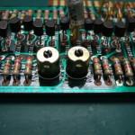 Technics SP-10mk2 制御基板(修理前) 同期用VR交換
