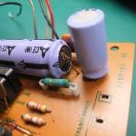 高圧用(DC140V)の電解コンデンサーがパンクしています