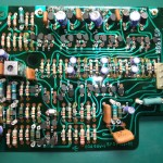 修理前のDDモーター駆動基板(表側)