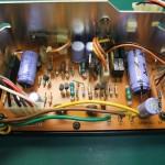 修理前の電源ユニット 制御基板(表側)