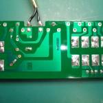 修理後の電源ユニット 中継基板(裏側)