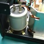 SH-10E電源ユニット 電解コンデンサー(修理前)