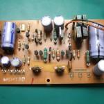 SH-10E電源ユニット 電源制御基板表面(修理前)