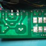 SH-10E電源ユニット 電源中継基板裏面(修理前)