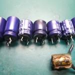 Technics(テクニクス) SP-10mk3 不良となった電解コンデンサー(液漏れ)