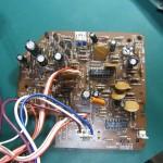 DENON(デンオン) DP-60 制御回路基板 部品面 オーバーホール前
