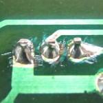 DENON(デンオン) DP-60 ドライブトランジスタパターン 修理後
