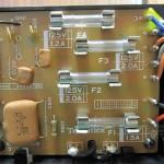 Technics(テクニクス) SP-10mk3 ヒューズ回路基板 部品面 オーバーホール前