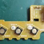 Technics(テクニクス) SP-10mk3 スピードセレクター回路基板 部品面 オーバーホール前