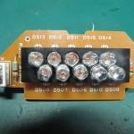 Technics(テクニクス) SP-10 mk3  ストロボインジケーター回路基板 部品面 オーバーホール前