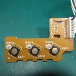 Technics(テクニクス) SP-10 mk3  スピードセレクトスイッチ回路基板 部品面 オーバーホール前