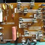 Technics(テクニクス) SP-10 mk3  電源ヒューズ回路基板 部品面 オーバーホール後