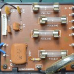 Technics (テクニクス) SP-10mk3 電源ヒューズ回路基板 部品面 オーバーホール前