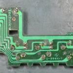 Technics (テクニクス) SP-10mk3 回転数切り替えスイッチ回路基板 半田面 オーバーホール前