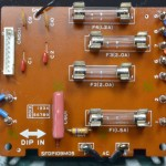 Technics (テクニクス) SP-10mk3 電源ヒューズ回路基板 部品面 オーバーホール後