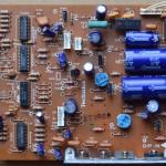 Technics(テクニクス) SL-1000mk3 電源オペレーション回路基板 部品面 オーバーホール前