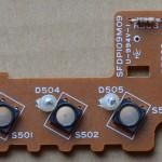 Technics(テクニクス) SL-1000mk3 回転数切り替え回路基板 部品面 オーバーホール前