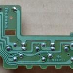 Technics(テクニクス) SL-1000mk3 回転数切り替え回路基板 半田面 オーバーホール前