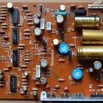 Technics(テクニクス) SL-1000mk3 電源オペレーション回路基板 部品面 オーバーホール後