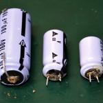 Technics (テクニクス) SP-10mk2 電解液漏れを起こした電解コンデンサ