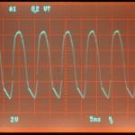 Technics (テクニクス) SP-10mk2 電源整流回路出力波形 オーバーホール前