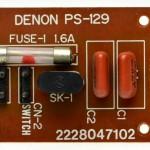 DENON (デンオン) DP-6000 電源フィルタ回路基板 部品面 オーバーホール前