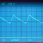 Technics (テクニクス) SP-10mk3 コントロール回路用電源電圧波形 修理前