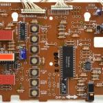 Technics (テクニクス) SL-1000mk3 オペレーション回路基板部品面 オーバーホール前