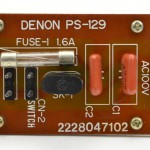 DENON (デノン) DP-6000 Power Supply Unit 部品面 オーバーホール後