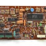 DENON (デノン) DP-80 クオーツサーボ回路基板 部品面 オーバーホール前