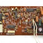 DENON (デノン) DP-80 サーボコントロール回路基板 部品面 オーバーホール前