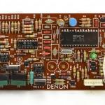 DENON (デノン) DP-80 クオーツサーボ回路基板 部品面 オーバーホール後