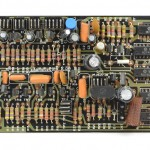 DENON (デノン) DP-6000 位相サーボアンプ回路基板 部品面 オーバーホール前