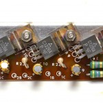 LUXMAN (ラックスマン) PD121 パワートランジスタ回路基板 部品面 オーバーホール後
