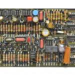 DENON (デノン) DP-6000 位相サーボ回路基板 部品面 オーバーホール後