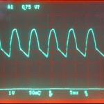 Technics (テクニクス) SP-10mk3 駆動用電源回路整流後の波形