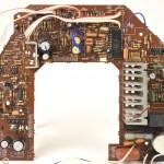 DENON (デノン) DP-60M メイン回路基板 部品面 オーバーホール前