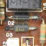 DENON (デノン) DP-80 緑青が発生したダイオード2
