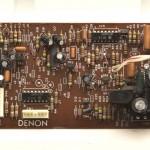 DENON (デノン) DP80 クオーツサーボ回路基板 部品面 オーバーホール前