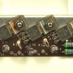 LUXMAN (ラックスマン) PD121 パワートランジスタ回路基板 部品面 オーバーホール前