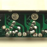 LUXMAN (ラックスマン) PD121 パワートランジスタ回路基板 半田面 オーバーホール後