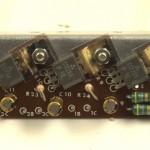 YAMAHA (ヤマハ)YP-1000mk2 パワートランジスタ回路基板 部品面 オーバーホール後