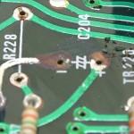 Technics (テクニクス) SP-10mk2 破損した回路パターン