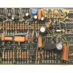 DENON (デノン) DP-6000 位相ロックアンプ回路基板 部品面  オーバーホール前