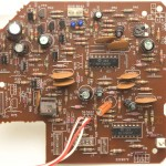 DENON (デノン) DP-60L アームサーボ回路基板 部品面 オーバーホール前