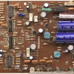 Technics (テクニクス)SP-10mk3 電源・オペレーション回路基板 部品面 メンテナンス前