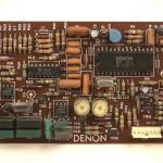 DENON (デノン) DP-80 クオーツロック回路基板 部品面 オーバーホール前