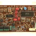 DENON (デノン) DP-80 クオーツロック回路基板 部品面 オーバーホール後