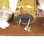 Technics (テクニクス) SL-1000mk3 電源整流回路の電解コンデンサの取付ミス